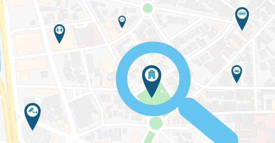 endereço fácil de achar no mapa